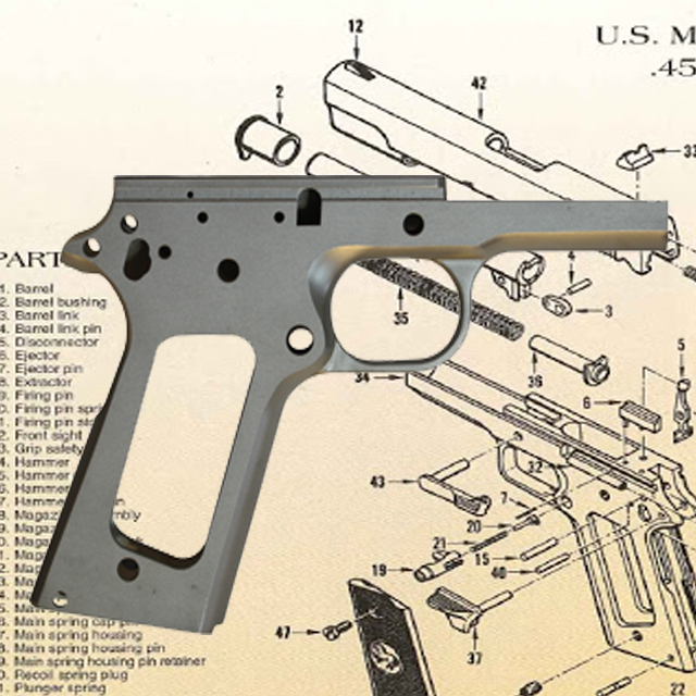 Left Hand Receiver, Stainless | Caspian Arms