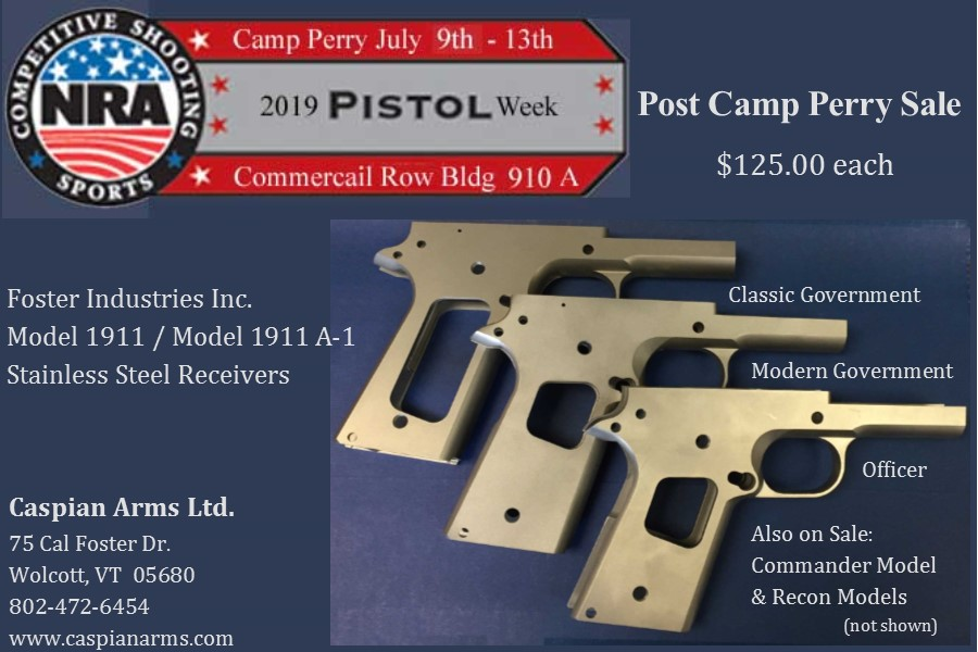 Caspian Arms | Serving the custom pistolsmith since 1983
